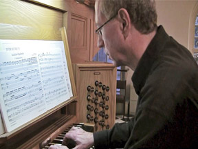 David Shuler_playing organ