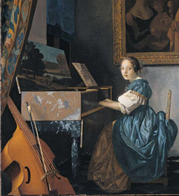 London National Gallery Next 20 11 Jan Vermeer_A Young Woman seated at a Virginal