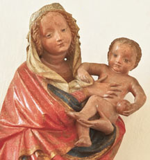 Teares_Moravian Gothic Virgin and Child_wood sculpture(3in)